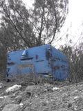 Blauer Bienenstock Stockbild
