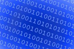 Blauer binärer Hintergrund Stockfotos