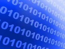 Blauer binärer Hintergrund Lizenzfreie Stockfotos