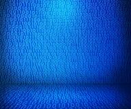 Blauer binärer Raum vektor abbildung