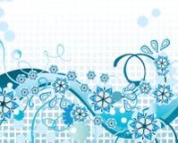 Blauer Blumenhintergrund Lizenzfreie Stockbilder