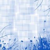 Blauer Blumenhintergrund Stockfoto