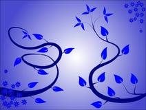 Blauer Blumenhintergrund Lizenzfreies Stockbild