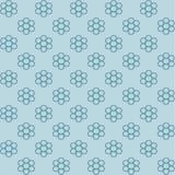 Blauer Blumenhintergrund lizenzfreie abbildung