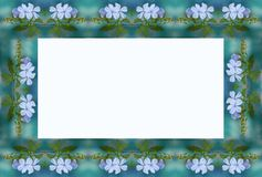 Blauer Blumenrahmen Stockbild