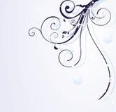 Blauer Blumenweihnachtshintergrund Stockfoto