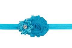 Blauer Bogen auf einem Band Stockfoto