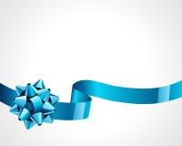 Blauer Bogen des Geschenks stock abbildung