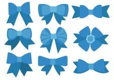 Blauer Bogenentwurf auf weißem Hintergrund stock abbildung