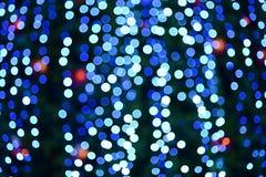 Blauer bokeh Auszugs-Leuchtehintergrund Lizenzfreie Stockfotografie