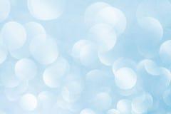 Blauer bokeh Auszugs-Leuchtehintergrund Lizenzfreie Stockfotos
