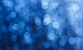 Blauer bokeh Hintergrund Lizenzfreies Stockbild
