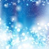 Blauer bokeh Hintergrund Stockbilder