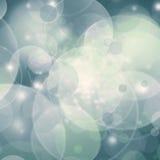 Blauer bokeh Hintergrund Lizenzfreie Stockfotografie