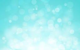 Blauer bokeh Hintergrund Stockfotos