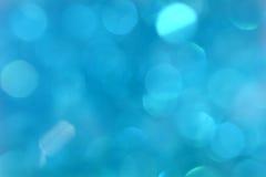 Blauer bokeh Hintergrund Der Hintergrund mit boke Stockbild