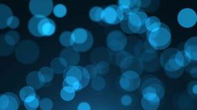 Blauer bokeh Hintergrund, Unschärfe der blauen Beleuchtung Stockbild