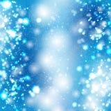 Blauer bokeh vektorhintergrund Lizenzfreie Stockbilder