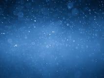 Blauer bokeh Zusammenfassungshintergrund und -beschaffenheit Stockfotos