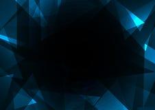 Blauer Bruchrahmenzusammenfassungs-Dunkelheitshintergrund Stockfoto