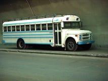 Blauer Bus Stockfoto