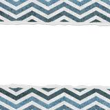 Blauer Chevron heftiger Hintergrund für Ihre Mitteilung oder Einladung Lizenzfreies Stockfoto