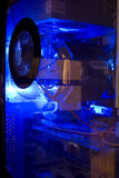 Blauer Computer Lizenzfreie Stockfotografie