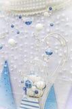 Blauer Dekor Lizenzfreies Stockbild