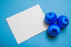 Blauer Dekorationshintergrund Stockfotografie