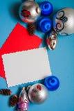 Blauer Dekorationshintergrund Lizenzfreies Stockfoto