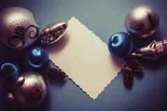 Blauer Dekorationshintergrund Stockbilder