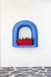Blauer dekorativer Rahmen Lizenzfreies Stockfoto