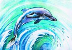 Blauer Delphin stock abbildung