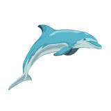 Blauer Delphin springt Stockbilder