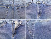 Blauer Denimbaumwollstoffhintergrund Lizenzfreies Stockbild