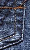 Blauer Denimhintergrund stockfoto