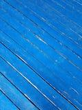 Blauer diagonaler hölzerner Planken-Hintergrund Stockfotografie