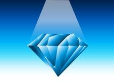 Blauer Diamant - Vektor lizenzfreie abbildung