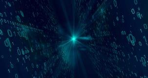 Blauer Digital-Hintergrund Lizenzfreies Stockbild