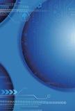 Blauer Digital-Hintergrund Lizenzfreie Stockfotos