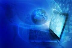 Blauer digitaler Hintergrund Stockfotografie