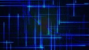 Blauer digitaler Hintergrund der binären Daten der Welle