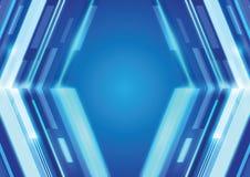Blauer Digitaltechnikhintergrund Laserlichts Stockbild