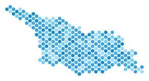 Blauer Dot Georgia Map Stockfoto