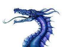 Blauer Drache stock abbildung