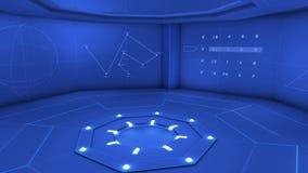 Blauer drehender Hintergrund Digital stock video