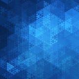 Blauer Dreieckzusammenfassungshintergrund Lizenzfreie Stockfotos