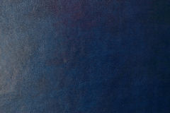 Blauer dunkler lederner Hintergrund oder Beschaffenheit Lizenzfreie Stockbilder