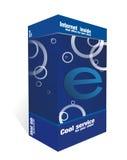 Blauer E-Kasten Lizenzfreies Stockfoto