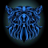 Blauer Eisenbär stock abbildung